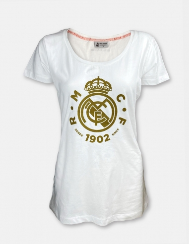 Camiseta escudo dorado Real Madrid -...