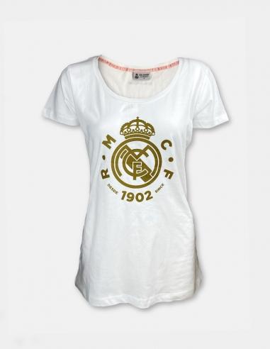 Camiseta escudo dorado Real Madrid -...