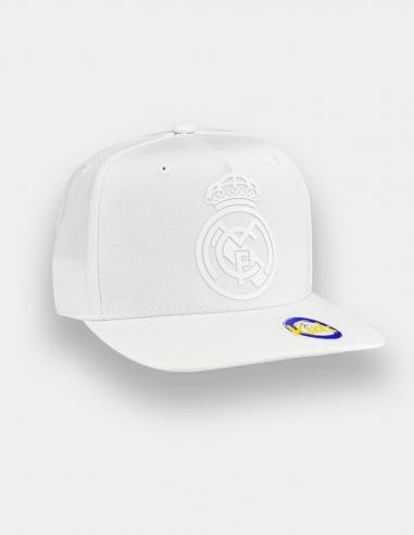 Gorra blanca escudo del Real Madrid -...