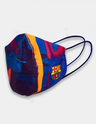 Mascarilla higiénica Barça Cassual -...